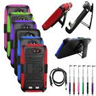 Phone Case For ZTE Warp SYNC Holster Rugged Cover Stand USB Charger Stylus