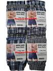 6 Mens Woven Classic Boxer Shorts Loose Fit Cotton Underwear / S M L XL XXL