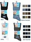 3 Mens No Non Elastic 100% Cotton Loose Wider Top Socks / UK 6-11