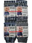6 Mens Woven Classic Boxer Shorts Loose Fit Cotton Underwear / 3XL 4XL 5XL