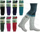ADULTS LADIES PLAIN WELLINGTON WELLY LINERS WELLIE WINTER THERMAL BOOT SOCKS 4-7
