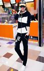 Girls Sports Jacket+Pants 2pcs Suit Tracksuit Womens Hooded Sweatersuit Jogging