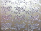 PEEL OFFS Two sheets Of Thank You Stickers Gold Or Silver  Cardmaking
