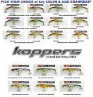 Koppers Live Target Smelt Crankbaits -Banana or Jointed - Bass / Walleye -Choice