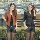 women leather jacket 2014 women clothing biker motorcycler coat two colors