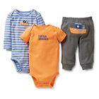Carters Newborn 3 Months Ship Bodysuit Pants Set Baby Boy Outfit Clothes Blue