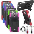 Phone Case For HTC Desire 612 610 Rugged Cover Stand USB Charger Stylus