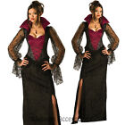 CL46 Midnight Vampiress Halloween Gothic Horror Vampire Womens Countess Costume