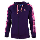Adidas Girly Full Zip Hoodie Women Sport Casual Hoody Purple M30467