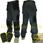 Mens Work Trouser Tuff Multi/Knee Pocket Pro Pants Triple Stitch FREE KNEE PADS