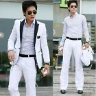 New Style Men's Slim Fit White One Button Suit XS/S/M/L --JG US