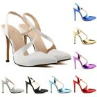 New Womens Pointed High Heels Pumps Court Ankle Shoes Sandals Pump UK Size 2-9
