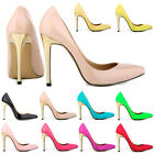 WOMENS HIGH HEELS STILETTO PUMPS PATENT COURT SHOES UK SIZE 2 3 4 5 6 7 8 9