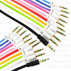 3.5mm Male to Male Car Stereo Audio Auxiliary AUX Cable 1M 100cm for phone LOT