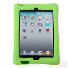 Kids Shockproof Bumper Band Guard Cover Silicone Kick Stand Case for iPad 2 3 4