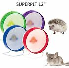 KAYTEE SUPERPET 12'' SILENT SPINNER WHEEL RAT CHINCHILLA CAGE EXERCISE 4 CLRS H1