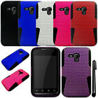 For Samsung Galaxy Rush M830 MESH HYBRID Rubber HARD Case Cover Phone + Pen