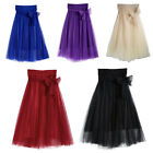 Women's Tulle Tutu Skirt Long Wedding Prom Candy Mesh Dress