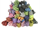 ROUND THICK ROPE STYLE LACES SHOELACES 5mm wide - 130cm long - 32 COLOURS