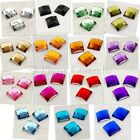 12mm Square Mosaic Acrylic Rhinestone Crystal Gem - Color & Lot Size to Choose