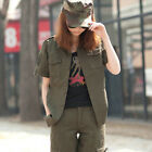 D154 Women's Outdoor Airborne Division Comfortable Short-sleeved Shirts Blouses