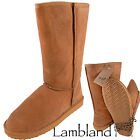 Lambland Ladies / Womens Genuine Sheepskin Boots in Chestnut