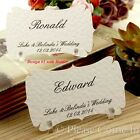 Personalised Place Cards/Escort Cards with Holder Wedding/Party