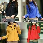 New Women Slim Wool Stand Collar Short Trench Coat Outwear Jacket Trench N98B