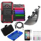Phone Case For Nokia Lumia 530 Rugged Cover Stand + Holster /USB /LCD /Pen 5in1