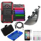Phone Case For Nokia Lumia 530 Holster Rugged Cover Stand USB Charger Film Stylu