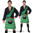 CL159 Kiltsmam Scottish Highlander Tartan Beer Fancy Dress Mens Costume Outfit