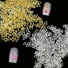500PCS 4X4MM Gold Silver Triangle Metal Alloy 3D Nail Art Decoration Phone Craft