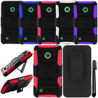 For Nokia Lumia 530 KICKSTAND Holster HYBRID Rubber HARD Case Cover Phone + Pen