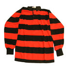 Rugby Jersey Black/Red  Hoops Ideal For Dennis The Menace Fancy Dress