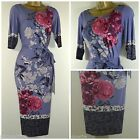 NEW PER UNA M&S MARKS & SPENCER TEA DRESS LILAC BEIGE FLORAL PARTY SIZE 8 - 22