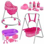 Dolls Range Twin Pram, Stroller, 3 Wheeler, 4 Wheel Buggy, High Chair Travel Cot