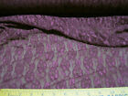 (Swatch Sample) Stretch Metallic sheen Lace  Purple Floral 70' in  310LC
