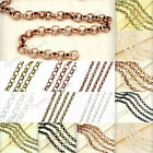 New DIY 2/4M Iron Rollo Unfinished Chains/Links wholesale fit necklaces pendants