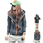 Hot Sale Korean Fashion Long Sleeve Women's Hoody Hooded Sport Coat Jacket Tops