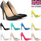 Womens Patent Leather High Heels Pointed Corset Stilettos Court Shoes Size 2- 9