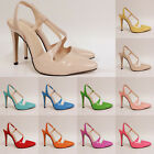 WOMENS LADIES PARTY PATENT HIGH HEELS SHOES TOE SANDALS SIZE 4 5 6 7 8 9 10 11