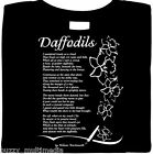 Daffodils by William Wordsworth, poetry shirt, poems,  literary classic, beauty