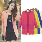 New Women Knitted Cardigan Outerwear Long Loose Sweater Coat Casual Tops Blouses