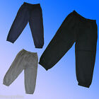 Boys 2 PACK Joggers Jogging PE Tracksuit Bottoms Pants Age 2-12 Years