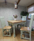 Rustic Oak Painted Country Farmhouse Kitchen Dining Table 3ft EXTENDING 6ft F&B