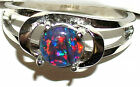 Women's Beautiful Colored Australian Opal Stainless Steel Ring  #164 Style SHO33