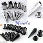 2 in 1 Stainless Steel Taper Ear Flesh Tunnel Screw Plugs Expander 3-10mm Kit