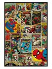 New Gloss Black Framed Marvel The Amazing Spider-Man Comic Book Collage Poster