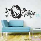 Wall Tattoo Headphones Music Young Dance Wall Decal