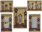 PRIMITIVE BARN STAR LIVE LOVE LAUGH HOME WALL DECOR LIGHT SWITCH PLATE